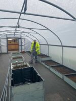 The poly tunnels are clear and ready to go Kimpton CSR