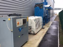 12 the two chillers outside in their new home