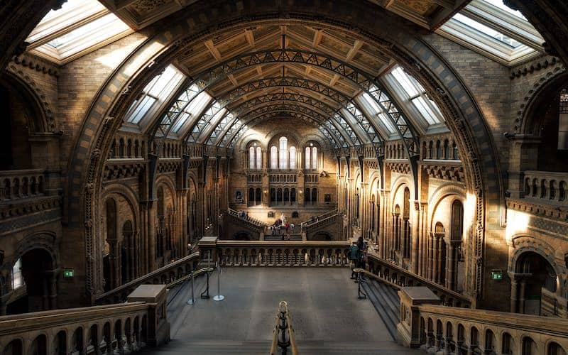 Natural History Museum in London was designed to remain naturally cool before the advent of air conditioning