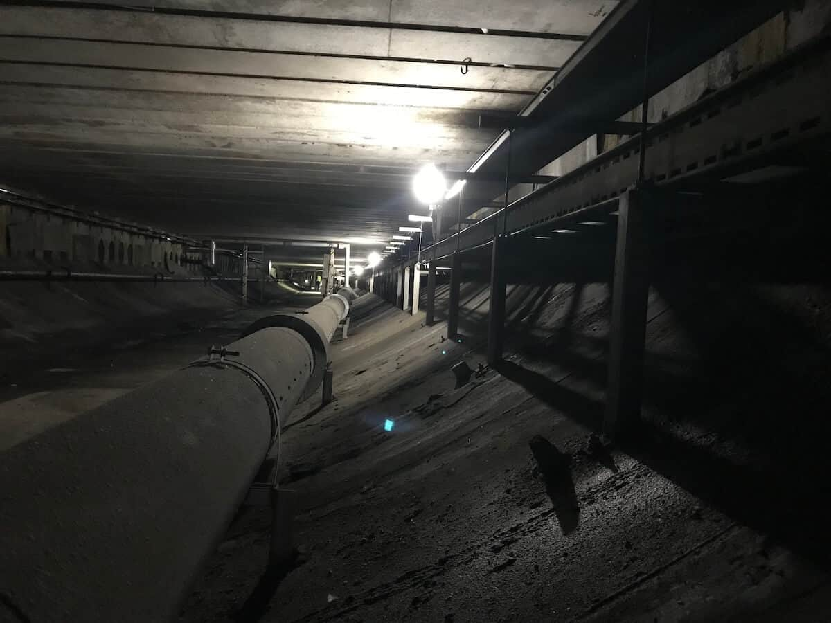 Full width of the invert level of one bore of the Kingsway tunnel