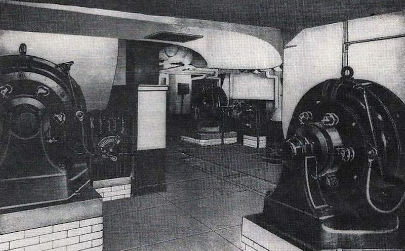Stock Exchange Basement with Sturtevant fans driven by DC electric motors