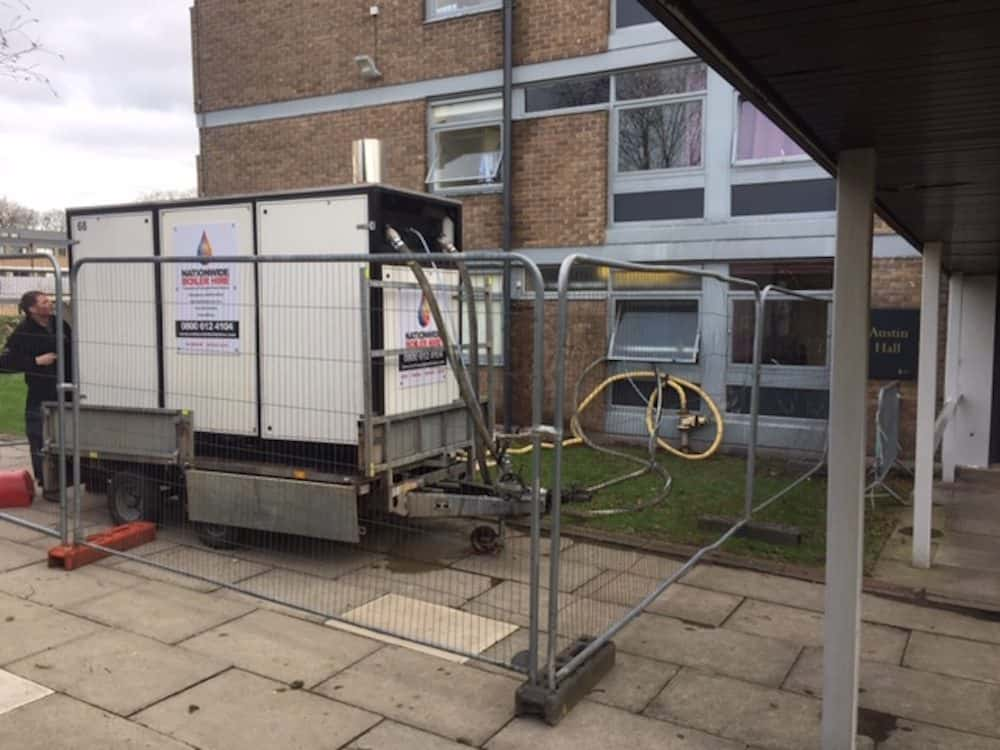 The mobile plant rooms is delivered to site and ready to run