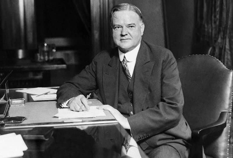 Herbert Hoover installed Air conditioning in the Oval Office