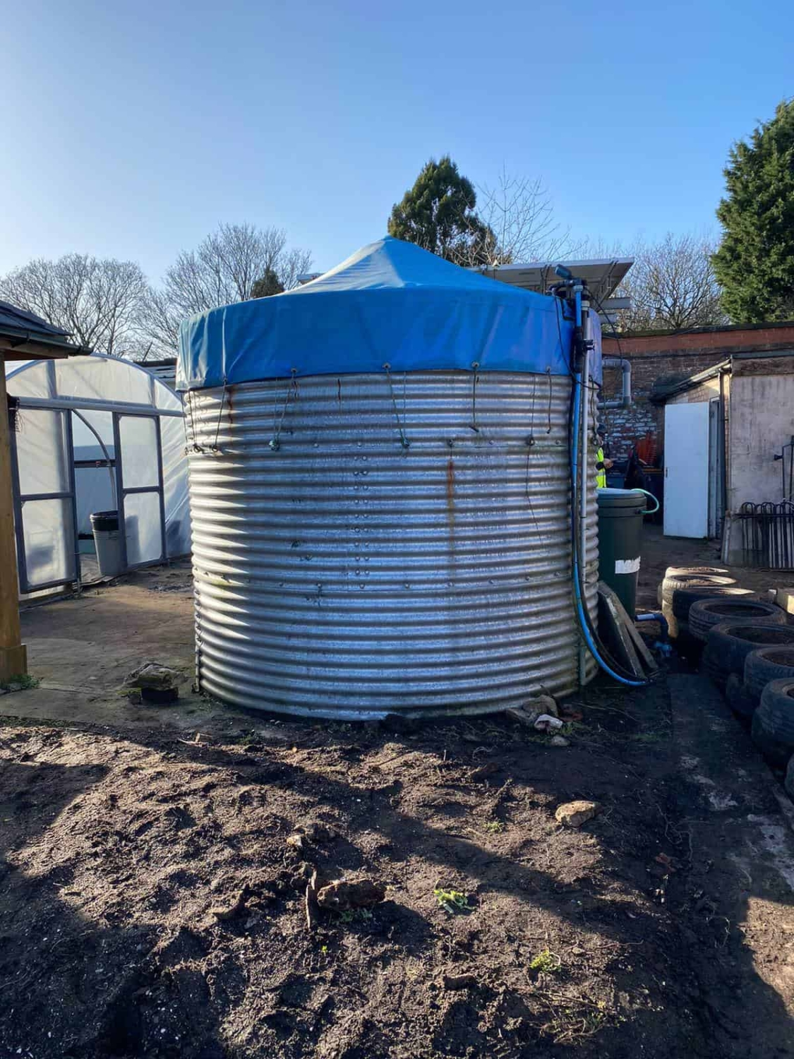 The Rainwater recovery tank