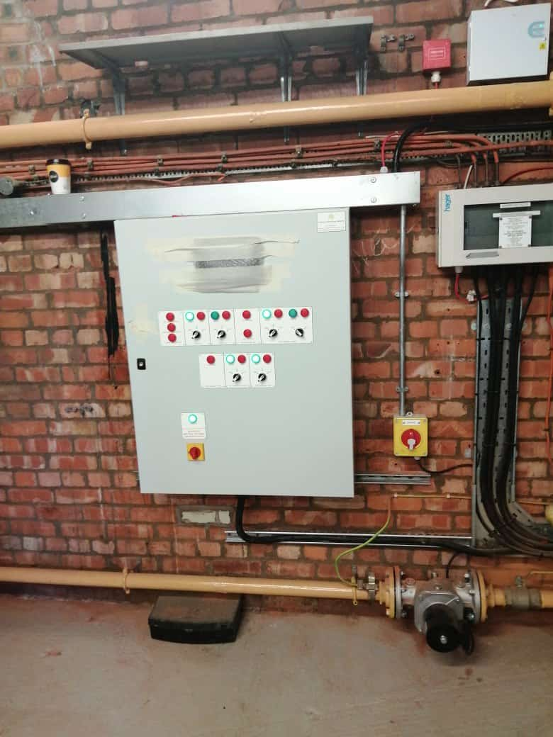 Completed BMS Part of the boiler room replacement project