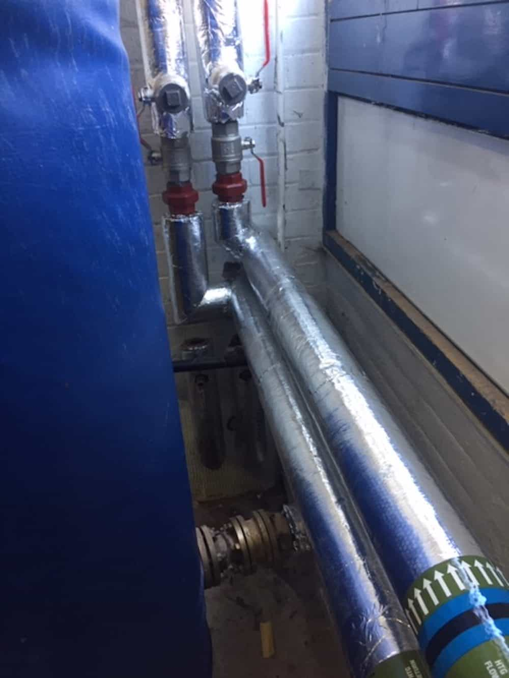 Finished pipework insulated and ready to go - boiler room replacement