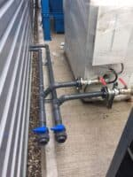 9 The pipework outside from the chillers