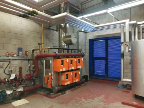 A new commercial boiler installation