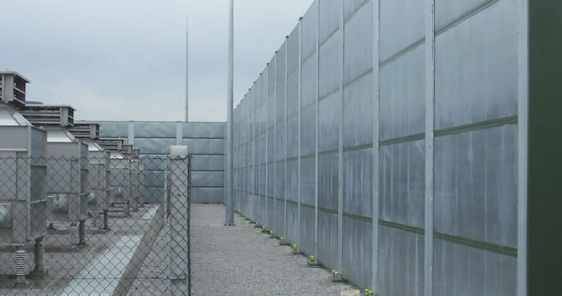 An acoustic barrier to reduce noise