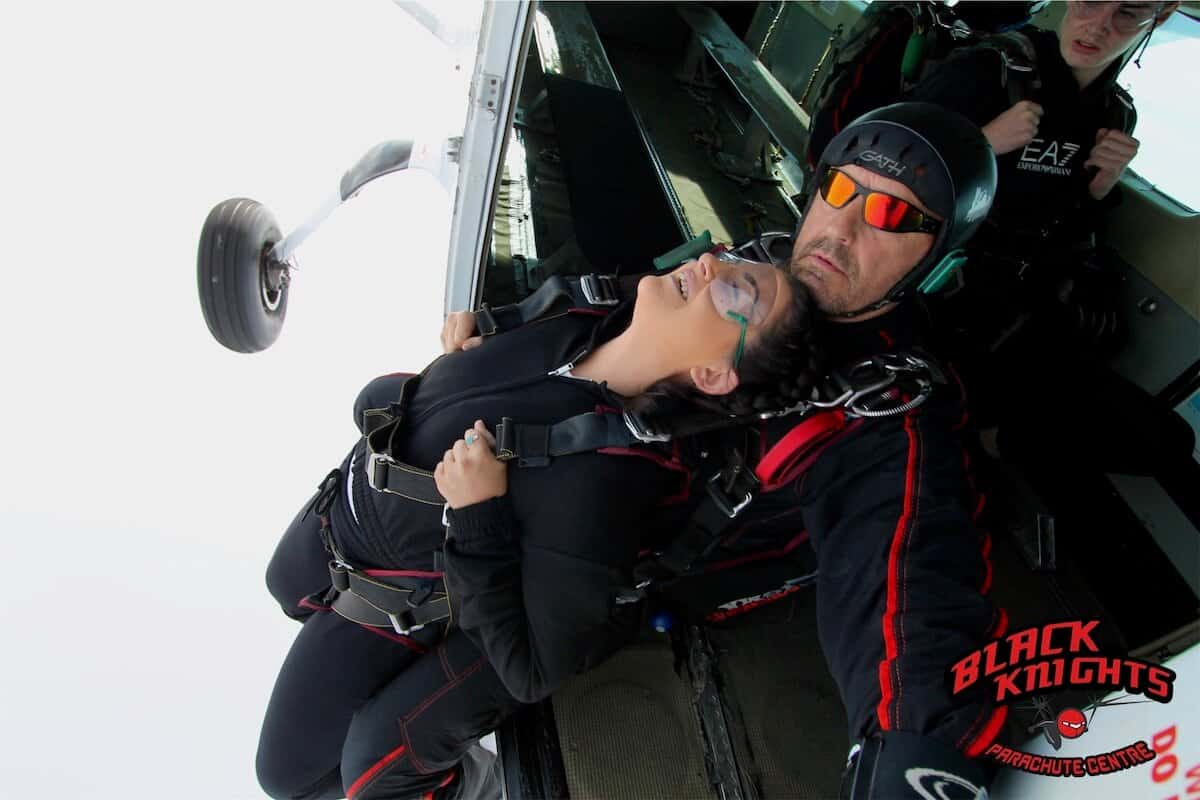 And the moment when Megan leaves the plane at 15000 ft for the Kimpton Skydive