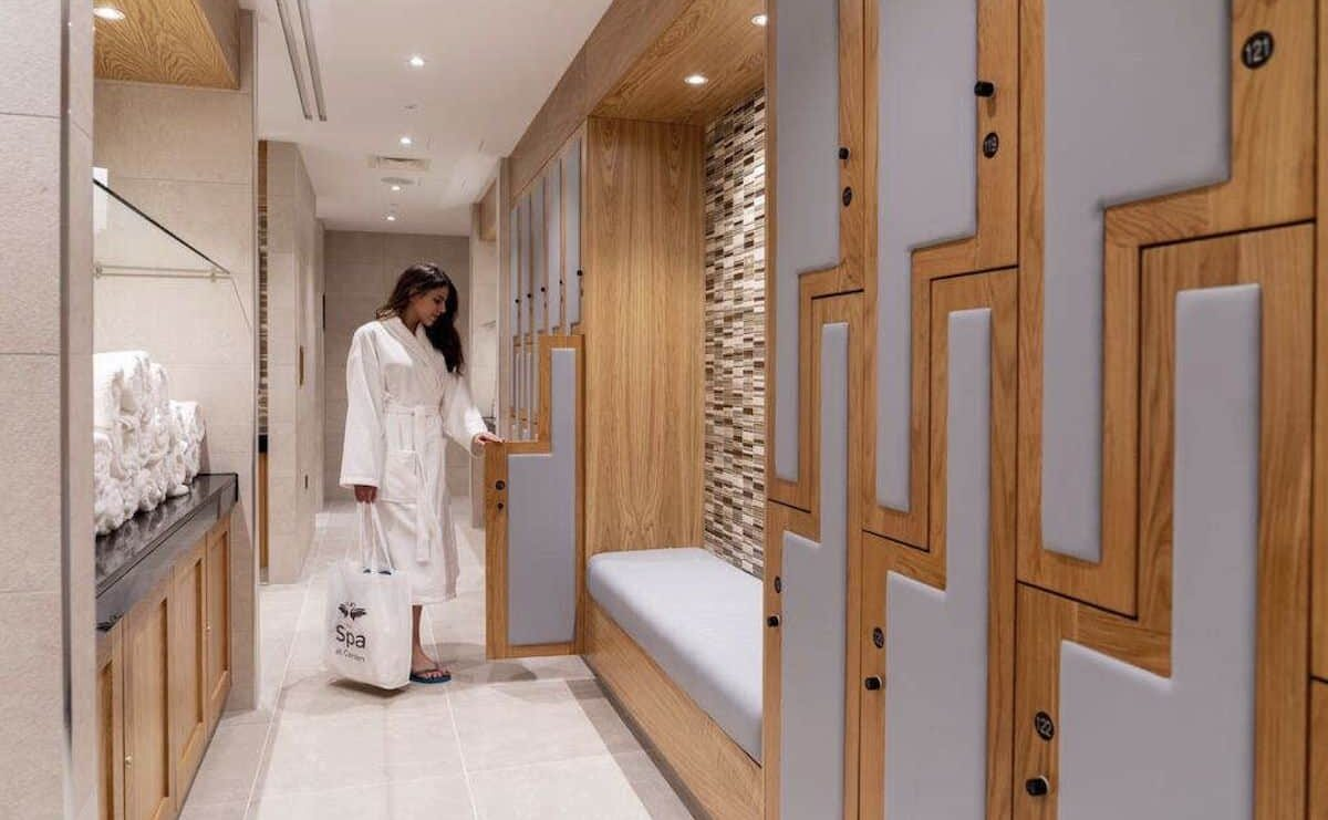 Carden Park Spa changing rooms with HVAC by Kimpton