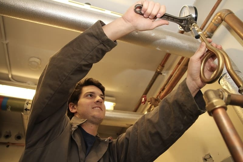 Commercial plumbing pipework by Kimptons