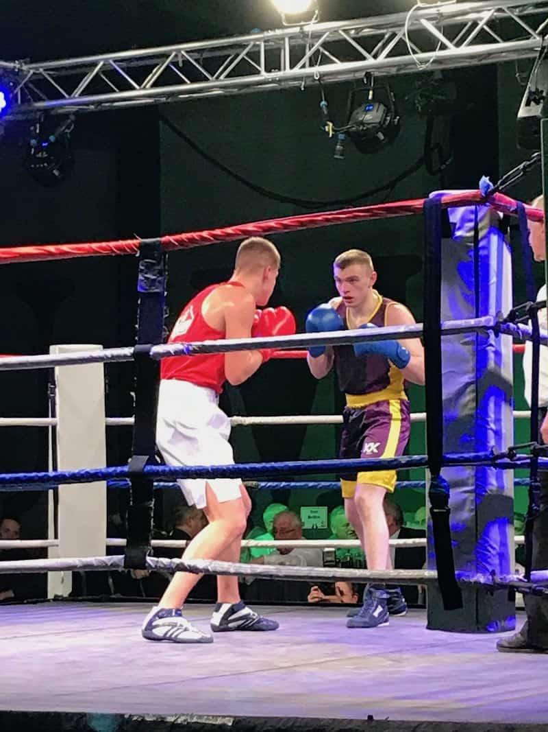 Connor Leatt of Kimptons at Ellesmere Port Boxing Club
