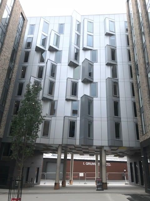 mechanical services for student accommodation Exterior of Bailey Fields by Watkin Jones and HVAC by Kimpton