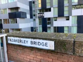 Fazakerley Bridge that leads into Liverpools abandoned skyway route