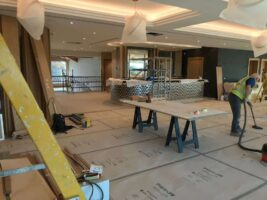 Final prep in the bar area at Carden Park Spa