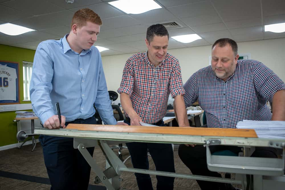 From Left to Right Chris Colville, Chris Tolley and Phil Morgan of Kimpton Energy Solutions via Kimpton Apprenticeships