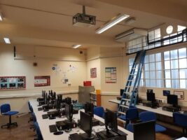 Installation of air con inside schools as part of our air conditioning services