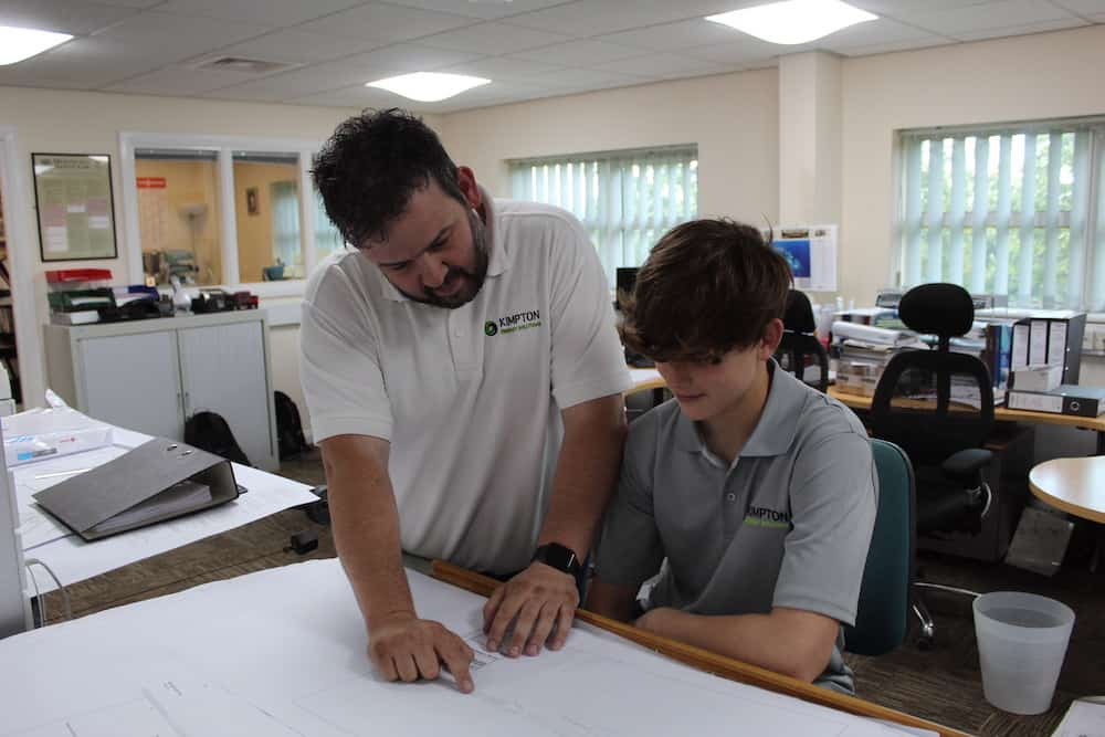 Josh Anderson on Work Placement at Kimptons Heating and plumbing engineers Wirral