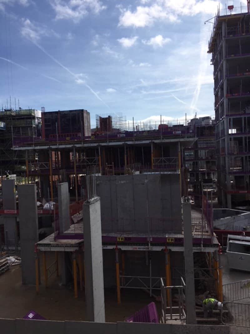 Lead image showing Kimpton on site at Hollis Croft Sheffield Student Accommodation
