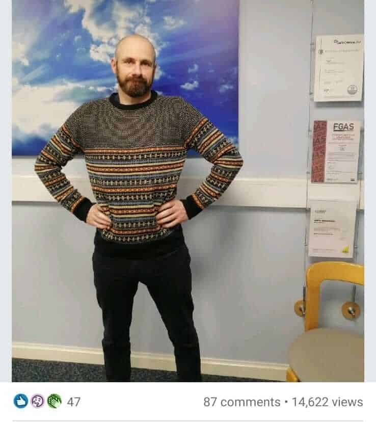 Matt Breakwell on Linkedin with his normal Jumper