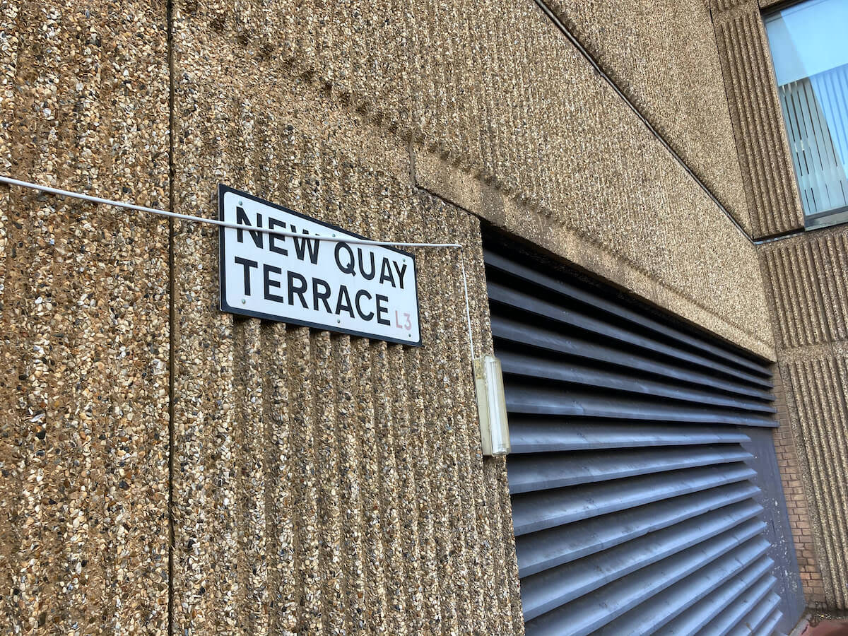 New Quay Terrace on one of the Liverpool Walkways in the Sky