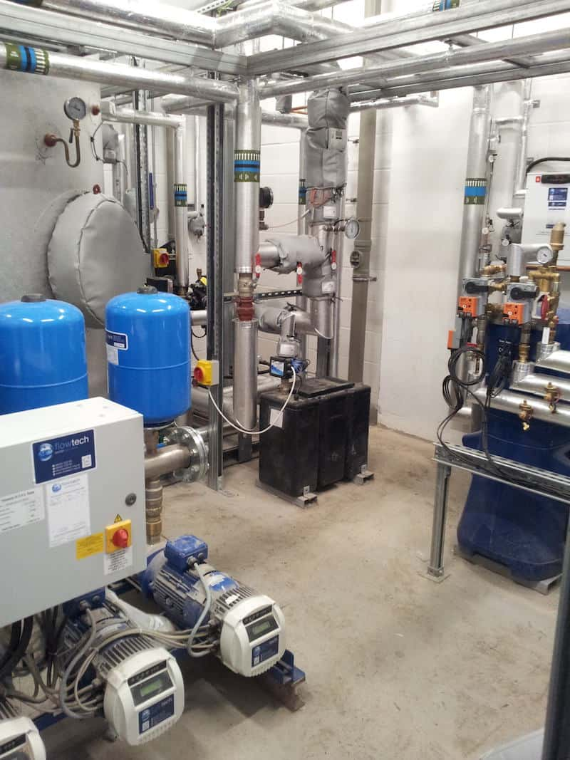 Perfect Plant Room inside Greenbank Student Accomodation Building Services Liverpool by Kimpton