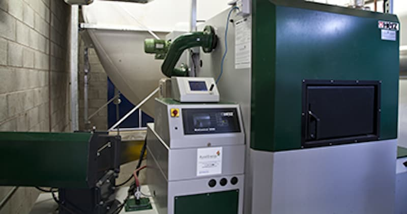 Renewable energy - biomass boiler at Upton High School by Kimpton Energy Solutions