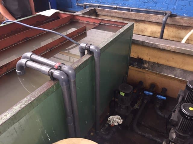 Process cooling involves returning cooled water back into the old tank
