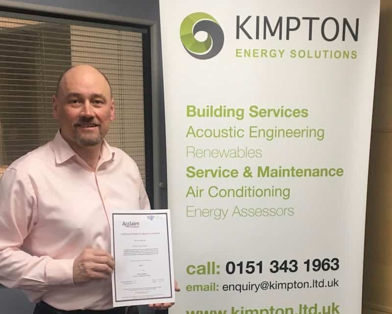 Ron Tierney, Kimpton's Operations Director with the new Acclaim Health and Safety Certificate and Gold Constructionline