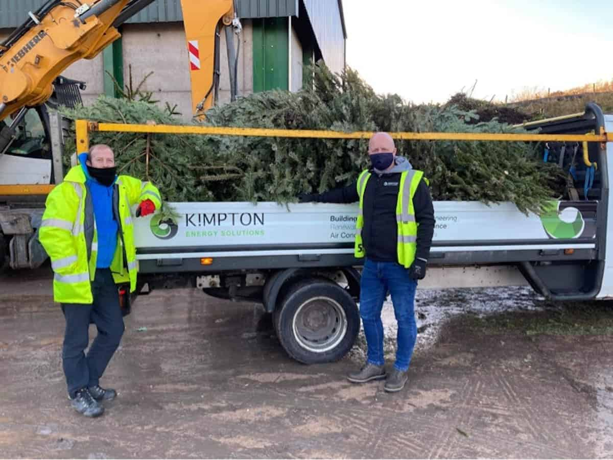 Scott Bennett and Steve Loughran of Kimpton on the Christmas Tree Collection for Nightigale House 1