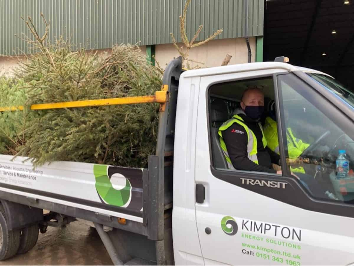 Scott Bennett and Steve Loughran of Kimpton on the Christmas Tree Collection for Nightigale House