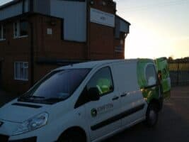 Steve Loughran of Kimpton delivering food parcels for Shaftesbury Youth Club