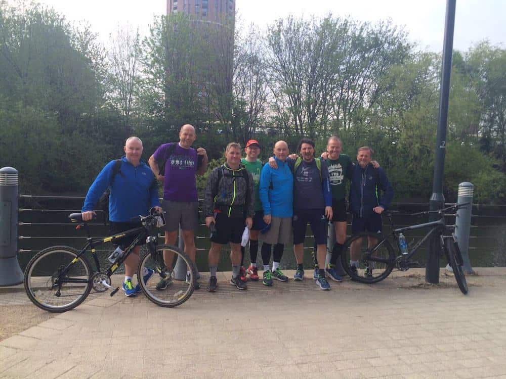 The Kimpton team running 130 miles over 4 days for merefield School Southport as part of CSR