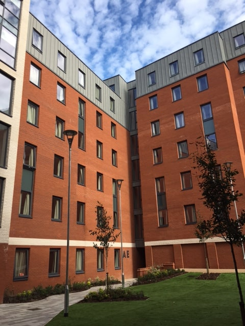 The Tramshed Student Accomodation in Preston by Kimpton Energy Solutions central atrium