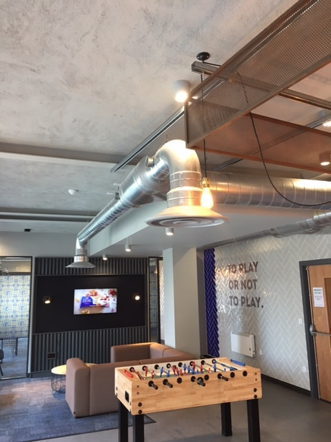 The Tramshed Student Accomodation in Preston by Kimpton Energy Solutions exposed ducting