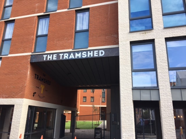 The Tramshed Student Accomodation in Preston by Kimpton Energy Solutions front entrance