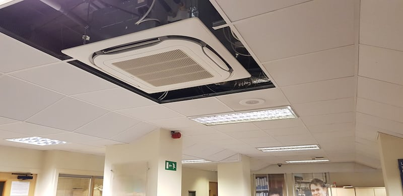 The ceiling units installed by Kimpton Air conditioning Bangor