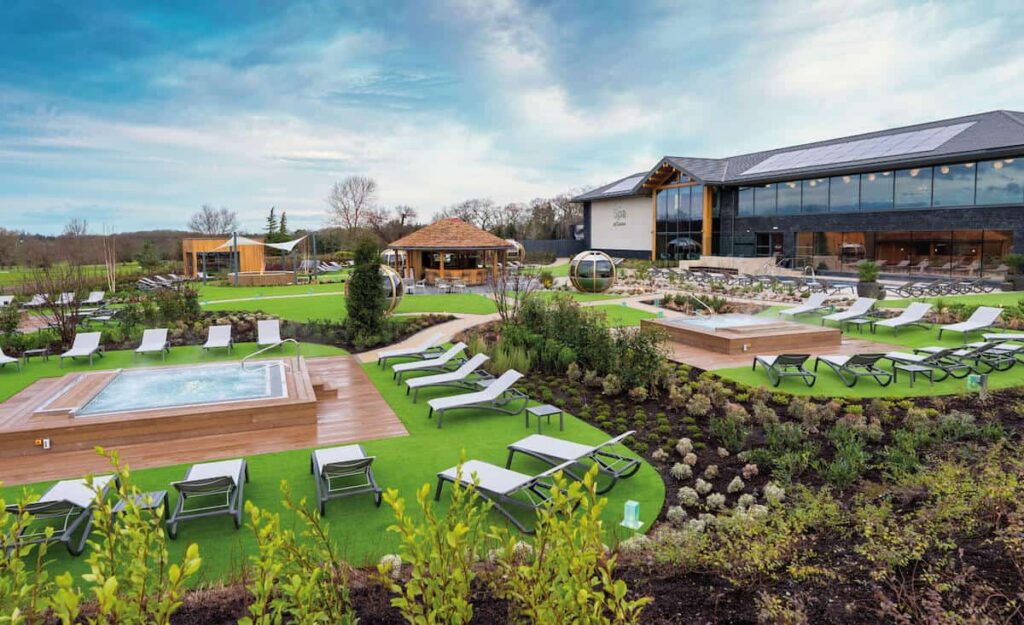 The stunning Spa Garden at Carden Park Spa with HVAC by Kimpton