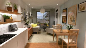 Tir Y Capel new apartment designed by Ellis Williams Architects. Mechanical services by Kimpton
