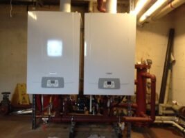 Commercial Boiler Servicing - Two Commercial Boilers ready for service