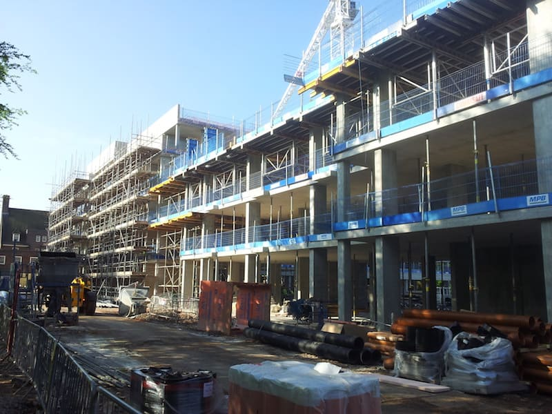View across the site during Building Services Liverpool by Kimpton on Greenbank Student Accomodation