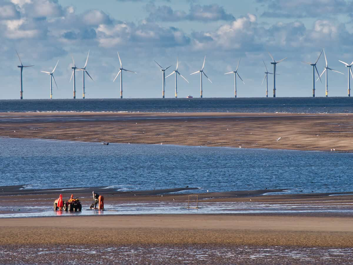 Wind Turbines off New Brighton Burbo Bank decarbonise your business