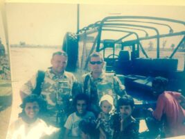 Keith Watts of Kimpton on patrol in Iraq