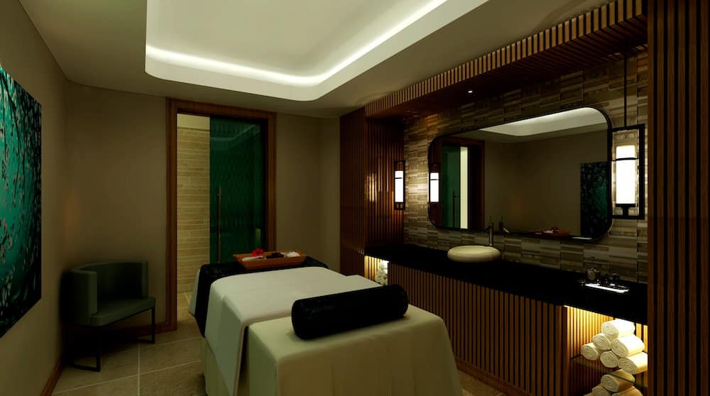 Treatment room at the new Carden Park Spa