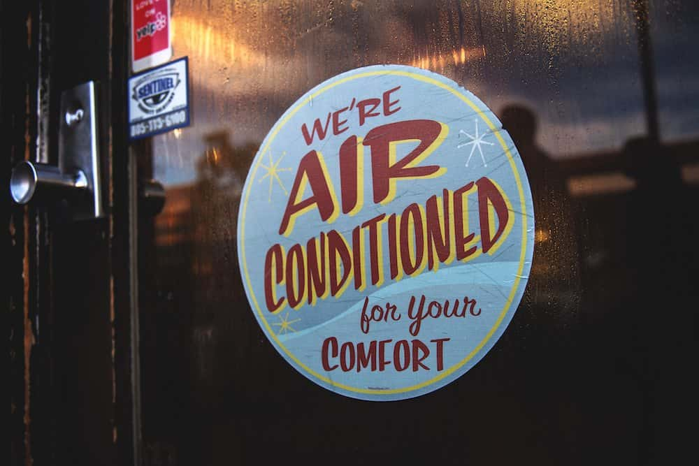 we're air conditioned for your comfort